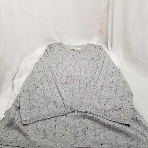 Loft Women's Long Gray Sweater Sz M